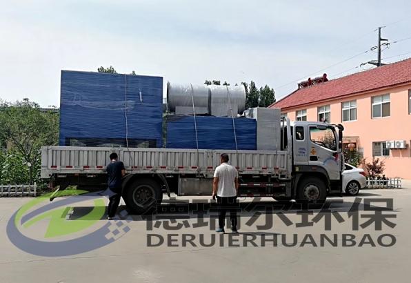 德瑞尔环保一批除尘设备发往江苏、陕西等项目工地
